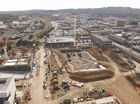 A DRONE soaring high above the Grand Central and Gardentown redevelopment has taken bird's eye view photos and footage of the construction site.