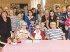 CELEBRATE: Phyllis Last (centre) celebrates her 100th birthday at Rathgar Lodge with five generations of her immediate family. Photo: Adam Hourigan