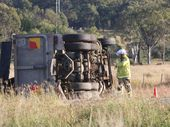 <strong>UPDATE:</strong> Police have opened one eastbound lane on the Warrego Highway allowing traffic to flow.