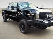 One-off F350 SuperDuty has been given the look of the devil thanks to Harrison F-Trucks' custom work.