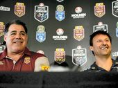 MAL Meninga has urged referees Ben Cummins and Gerard Sutton to help give Origin's expected biggest-ever crowd a great spectacle by keeping the sides apart.