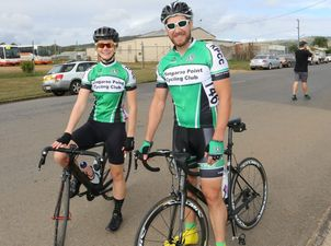 Michaela Murray and Bruce Smith from Kangaroo Point Cycle Club at the Lifecycle Cycling Club Hosken Site Steel Classic in Lowood on Sunday, June 14.