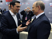 "GREECE'S Prime Minister has hinted his country could find a ""safe port"" in Russia if it crashes out of the eurozone at the end of the month."