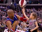 SUPER cool Harlem Globetrotter - with Guinness World Records for basketball spins on his head and nose - rates Aussie Matthew Dellavedova's style.