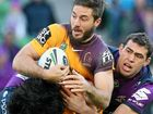 BRISBANE produced a stunning defensive display to deny a near-perfect Melbourne 14-12 in an astonishing game of rugby league at AAMI Park.