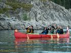 Aussie competitor at Yukon River Quest, the longest canoe race in the world in the Yukon Territory of Canada.