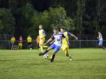 Soccer, Sunshine Coast Football premier men. Kawana v Gympie June 20