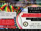 African drumming and dancing classes with Nathaniel Combs and Bec Mount