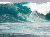 """PROFESSIONAL big wave surfer Mark Visser  will be tackling the Indian Ocean's 60ft super swell this week in his """"time off""""."""