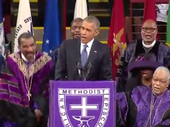 THE hymn Amazing Grace has been given many powerful and emotional renditions. Few will have been be more remarkable than that delivered by Barack Obama.