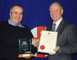 Fire captain honoured with community service award