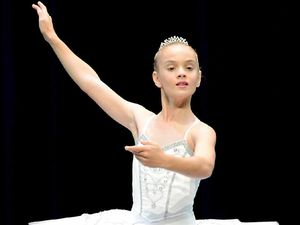 Jessica Fagan shows that practice makes perfect in the Ipswich Junior Dance Eisteddfod, Classical – Solo 11 years section.