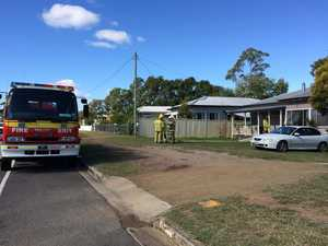 A fire broke out in a Murgon home this morning. Photo Contributed