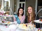 Tweed Valley Banana Festival Queen entrant Rhiannon Francis and friends indulged in a high tea at the House of Gabriel cafe, at Tumbulgum.