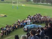 HUNDREDS of people, mostly from the rugby league fraternity formed a line along Sunshine Coast Stadium oval in a guard of honour for James Ackerman.