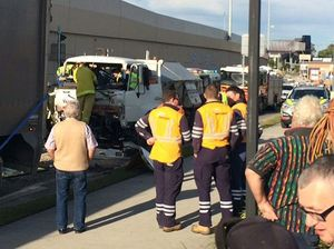 Truck crash in Goodna