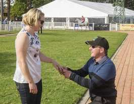 Double win for trainer after proposing at Westlawn Race Day