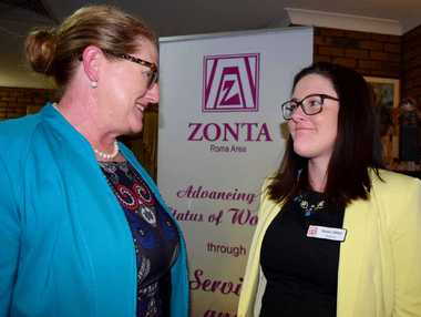 IN WITH THE NEW: Brooke Ashton is the new president of Roma's Zonta Club, taking over from Kell Freeman for two years.