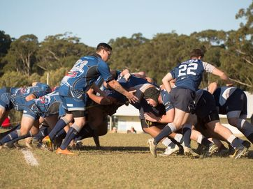 SCU Marlins and Woolgoolga White Pointers in Presidents Cup at University Oval.