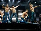 From left, Stephen Boss, Matt Bomer, Kevin Nash, Joe Manganiello, Channing Tatum and Adam Rodriquez in a scene from the movie Magic Mike XXL. Supplied by Warner Bros Pictures.