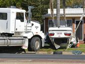 A MAN has been seriously injured in a collision between a truck and car in Wilsonton, Toowoomba.