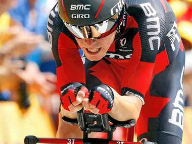 ON TOP: Rohan Dennis in action on stage one of he Tour de France.