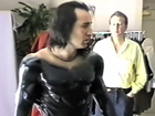 Behind the scenes footage of Nicolas Cage being fitted for the Superman costume he never wore on screen.
