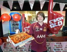 Pizzas set to sell like hotcakes for Origin decider tonight