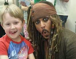 Toowoomba boy meets Captain Jack Sparrow