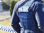 The hunt is on for three men who threatened residents with a knife.