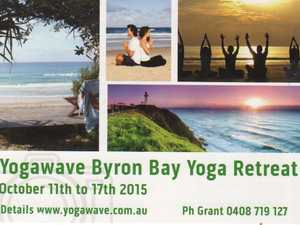 Rest, relax and rejuvenate on the beach at Byron Bay. A retreat filled with lots of Yoga, meditation and relaxation, healing, swimming and organic food.