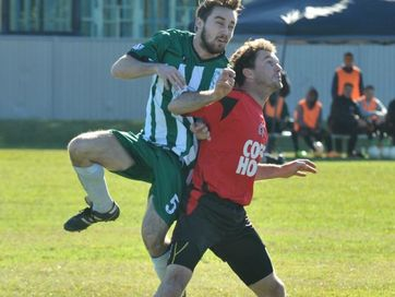 Coffs United take down Sawtell 6-0 at McLean St Oval on July 12, 2015.