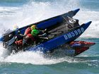 SPECTATORS at the King of Coolum Thundercats Race were shocked when two of the high-speed surf rescue boats collided, knocking a man unconscious.