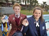 DEDICATED Ipswich Grammar Swimming club duo Ryan Maskelyne and Tenealle Fasala are forging different but exciting sporting paths.