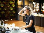 MASTERCHEF contestant Sara Oteri's first pressure test has also proved to be her last.