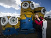 A TRIO of minions on a property at Nobby has been causing drivers to stop and stare.