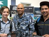 A HANDS-ON career like welding the hulls of navy ships stood out to Nambour High student Brandon Phillips as he walked around the careers expo.