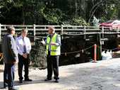 Construction of a new $1.65 million concrete bridge on Eumundi Range Road will start this month, with Sunshine Coast Council working on a temporary detour track