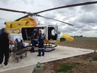 RACQ CareFlight airlifted a woman from the Dalby region on Wednesday afternoon.