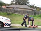 A TEENAGER accused of throwing the punch that killed a Goodna man has become the first person charged under new laws targeting one-punch attacks.