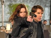 TOM Cruise meets his match in Rebecca Ferguson in the new Mission: Impossible film Rogue Nation.