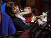 AN ARGENTINIAN politician has been praised after a photo of her breastfeeding her infant daughter during a parliamentary session went viral.