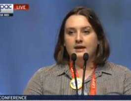 Laura takes lead on women's rights motion at ALP conference