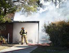 Caboolture home escapes being engulfed in fire