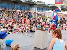 MASSIVE EVENT: Thousands turn out for the Coffs Harbour International Buskers and Comedy Festival Kids' Day.