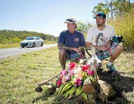 Roadside memorial doesn't slow drivers on dangerous road