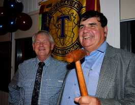 Roma Toastmasters pass the gavel to Elwyn Brookes
