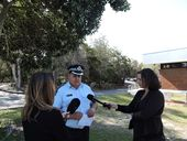 POLICE are still searching for a man who allegedly fired shots from a car at Noosaville yesterday afternoon.