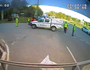 WATCH: Cars crash in front of police attending crash