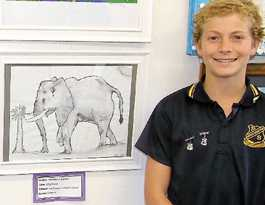 Students' work goes on display at regional art gallery